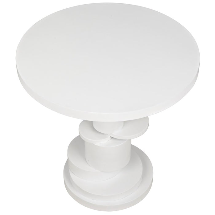 Hugo Side Table, Solid White