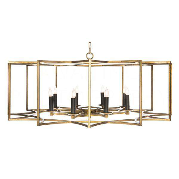 Chan Geo Colllection Look # 2 Large Chandelier Gold