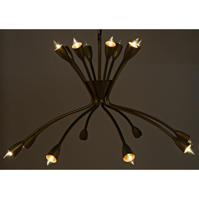 Lexa Chandelier, Antique Brass
