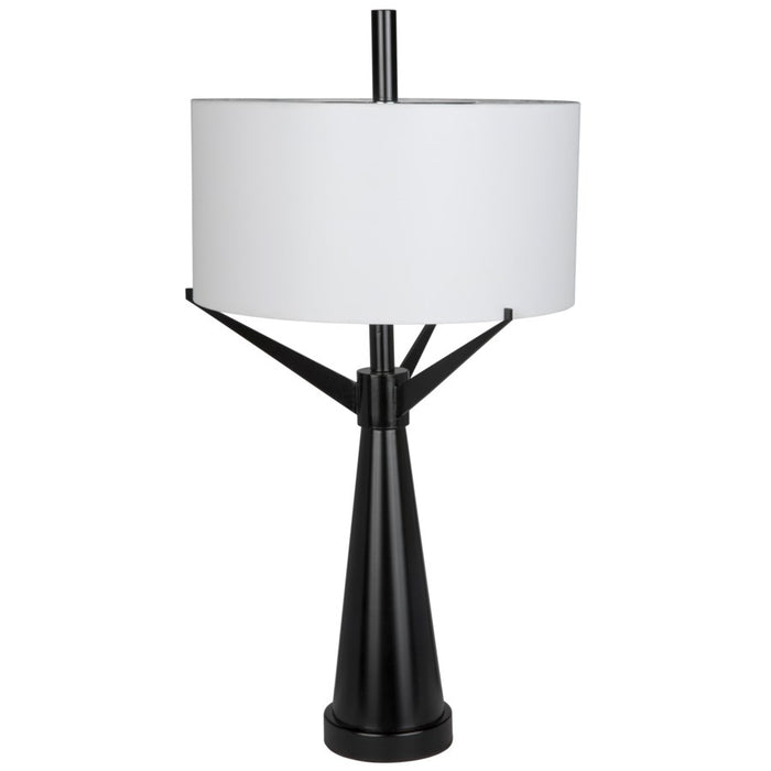 Altman Table Lamp with Shade, Black Metal