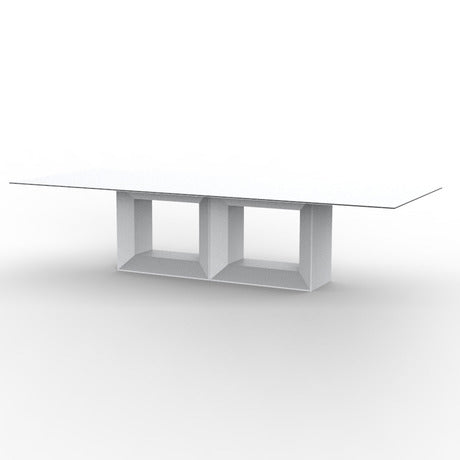 Vela Full White Table By Vondom