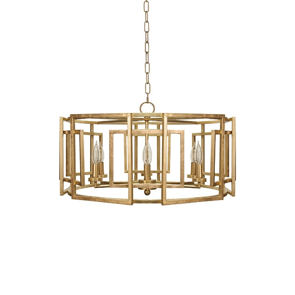 McKenzie Square Motif Drum Chandelier