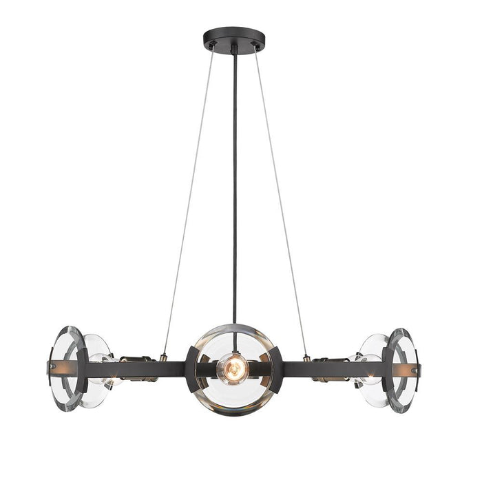 Amari BLK 6 Light Chandelier