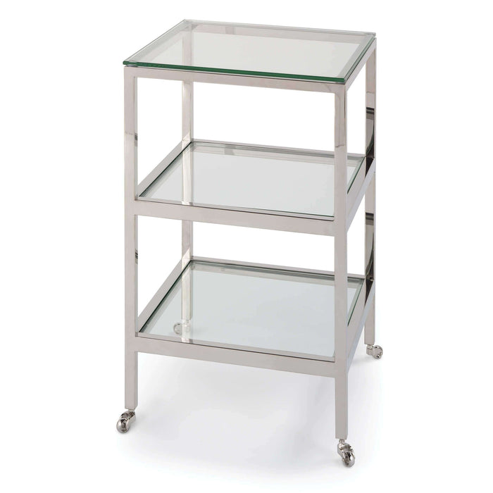 Alister Side Table (Polished Nickel)