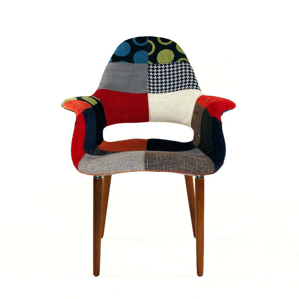 Mid Century Organic Chair - Patchwork *free local shipping only only*