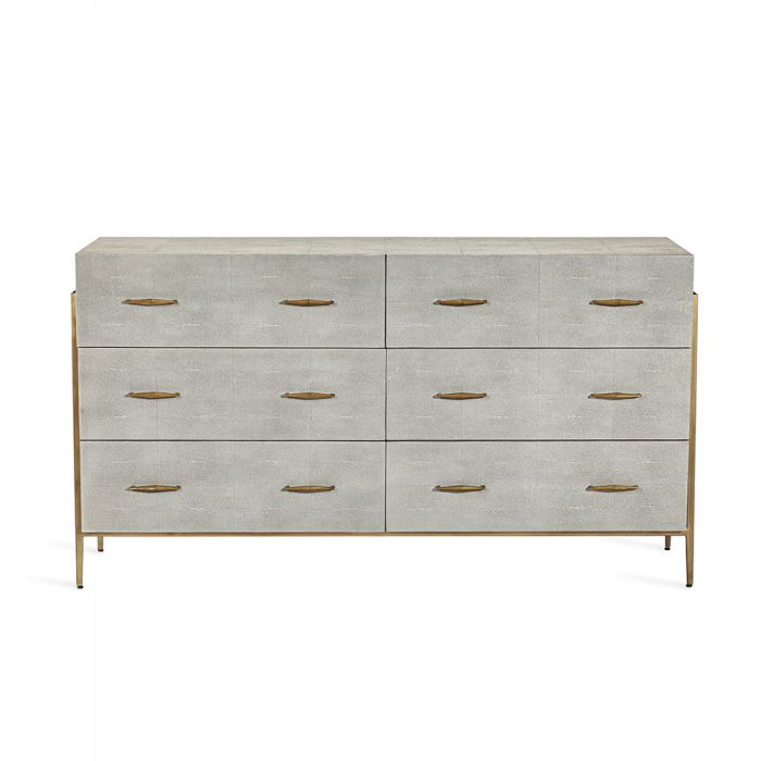 Morand 6 Drawer Chest - Grey