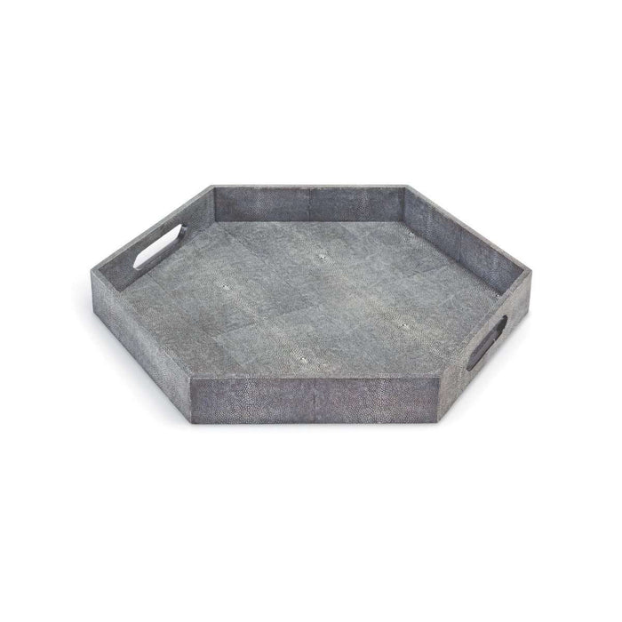 Shagreen Hex Tray (Charcoal)