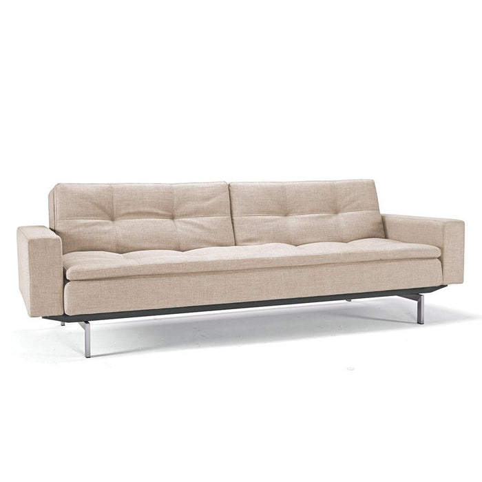 Dublexo deluxe sofa w/arms,STAINLESS LEGS