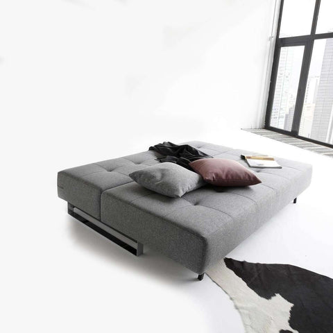 Supermax Deluxe Excess Lounger Sleeper Sofa - Grey **PICK UP ONLY**