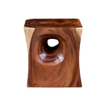 Peek a Boo Side Table, Chamcha Wood, Natural