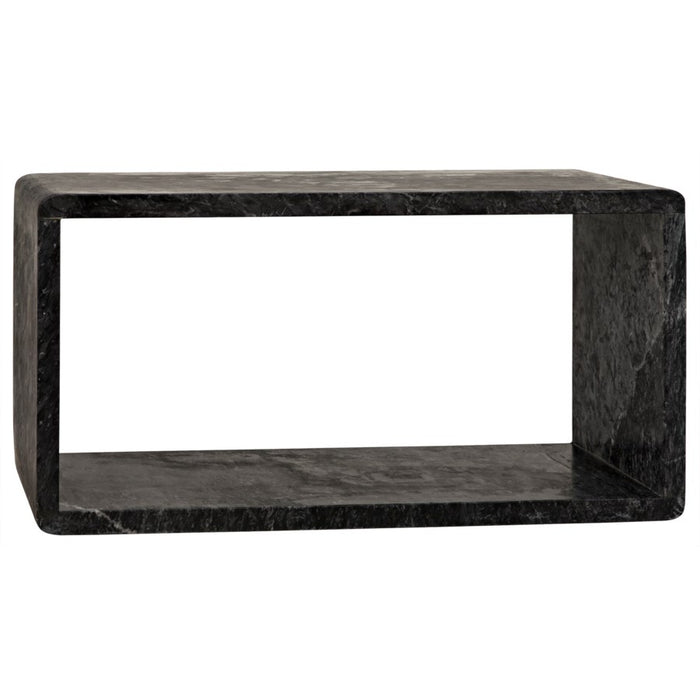 Foundation Side Table, Large, Black Marble