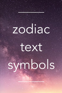 astrological symbols in easy copy-and-paste format