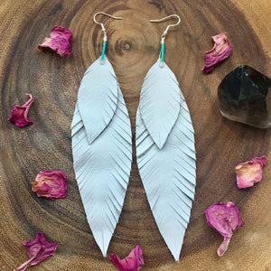 Priestess Spirit Feather Earrings