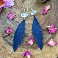 Blue Bird Spirit Feather Earrings