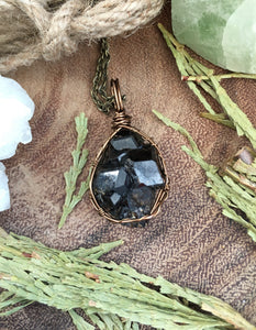 dark moon black andradite garnet