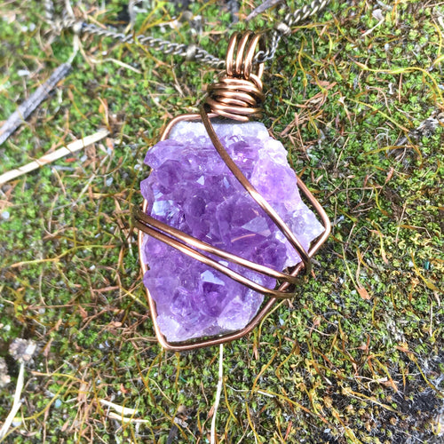 Amethyst Cluster for Meditation