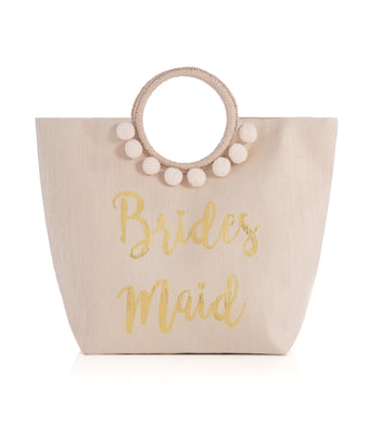 Mia Bridesmaid Tote, Mia Bridesmaid Tote, Blush