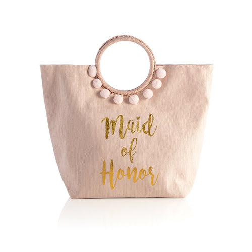 MAID OF HONOR TOTE,BLUSH