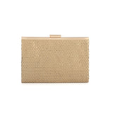 Harding Frame Clutch, Gold,