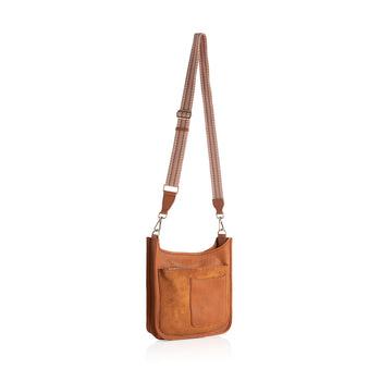 ARDEN GUITAR STRAP CROSS-BODY,SADDLE