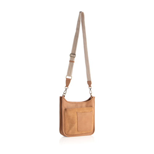 ARDEN GUITAR STRAP CROSS-BODY,TAN