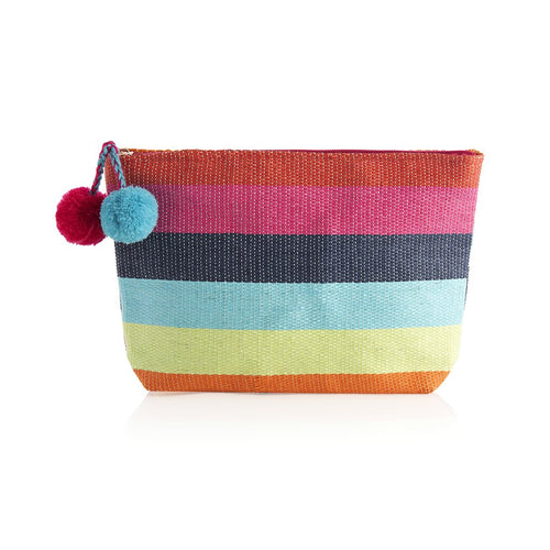 RAINBOW ZIP POUCH,MULTI
