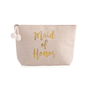 MAID OF HONOR ZIP POUCH,BLUSH