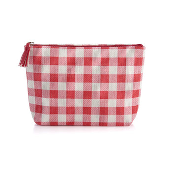 Gina Zip Pouch, Red, Gina Zip Pouch, Red
