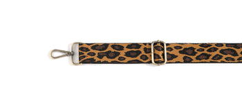 Leopard Guitar Strap,Brown
