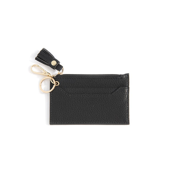 Cece Card Case With Key Chain,Black