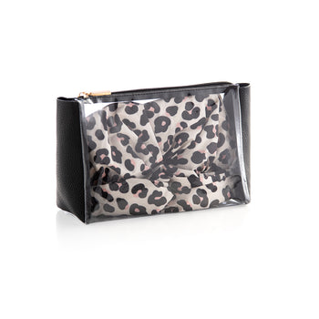 Eden Shower Cap And Zip Pouch Set,Black