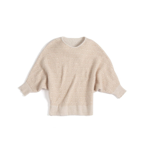 CHARLIE DOLMAN SLEEVE SWEATER S,BLUSH