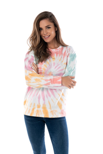 TIE DYE SWEATSHIRT-SMALL,MULTI