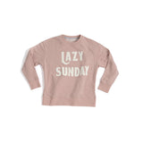 """LAZY SUNDAY"" SWEATSHIRT S,BLUSH"