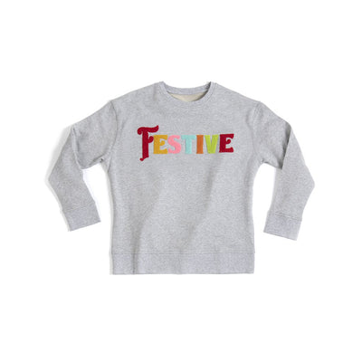 """FESTIVE"" SWEATSHIRT S,GREY"