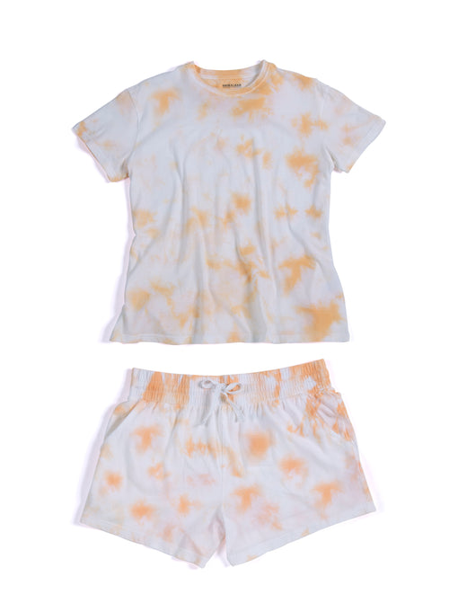 Jamie Tie Dye T-Shirt And Shorts Set, Sherbet