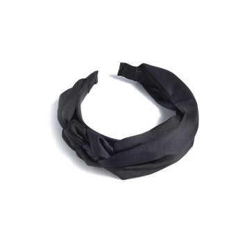 BRAIDED HEADBAND,BLACK