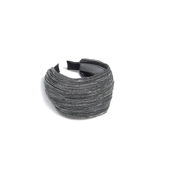 LUREX HEADBAND,SILVER