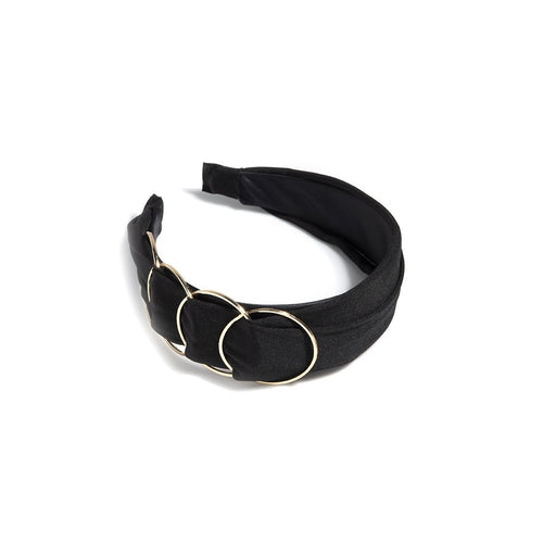 RING DETAIL HEADBAND,BLACK