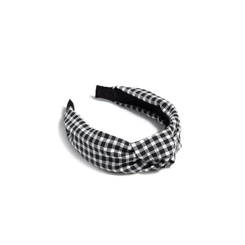 BUFFALO PLAID HEADBAND,BLACK