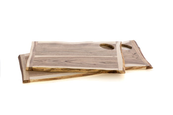 Set Of 2 Assorted Montana Live Edge Cutting Boards, Natural