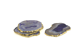 Set Of 4 Agate Coasters