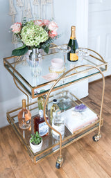 RITZ BAR CART, GOLD