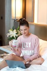 """LAZY SUNDAY"" SWEATSHIRT, BLUSH"