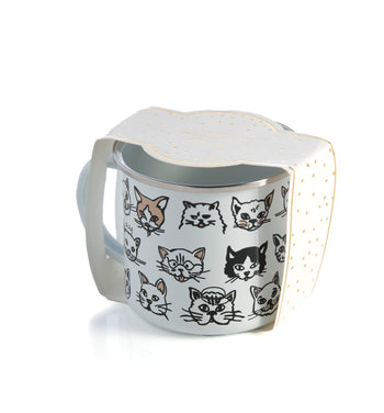 Kitty Print Enamel Mug, Multi, Kitty Print Enamel Mug, Multi
