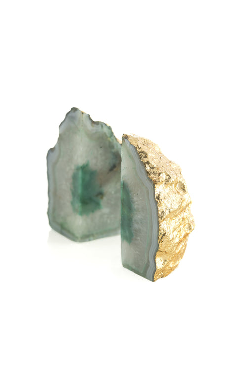 Agate Book Ends, Green