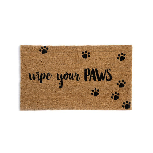 WIPE YOUR PAWS DOOR MAT,NATURAL