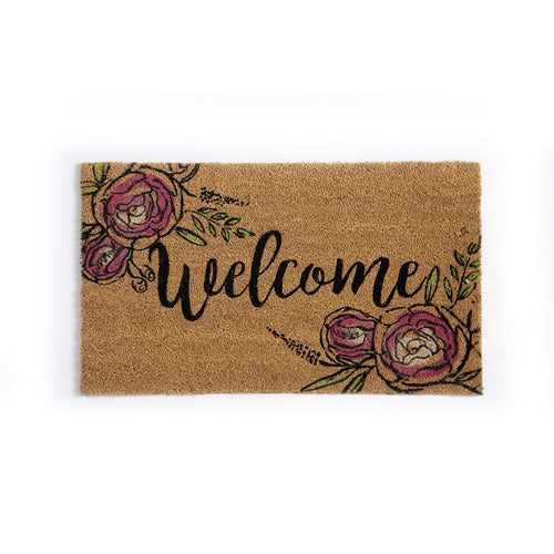 WELCOME DOOR MAT,NATURAL