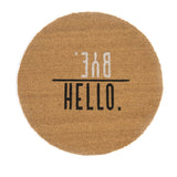 """Hello. / Bye."" Doormat, Natural, ""Hello. / Bye."" Doormat, Natural"