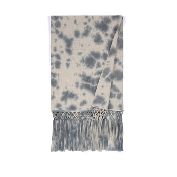 Aria Tie Dye Throw, Grey, Aria Tie Dye Throw, Grey